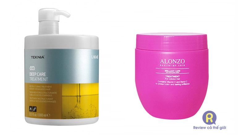 Kem ủ hấp tóc Lakme hoặc Alonzo được salon tin dùng