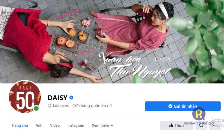 Shop quần áo online Daisy
