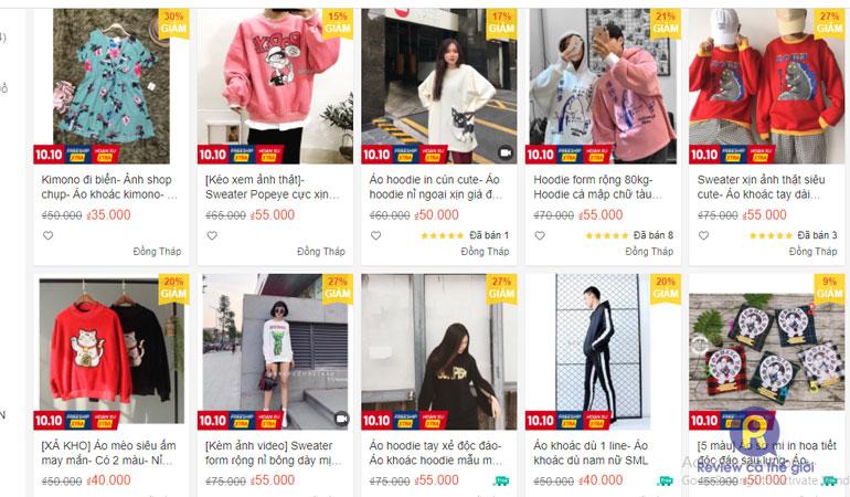 Shop quần áo R&D