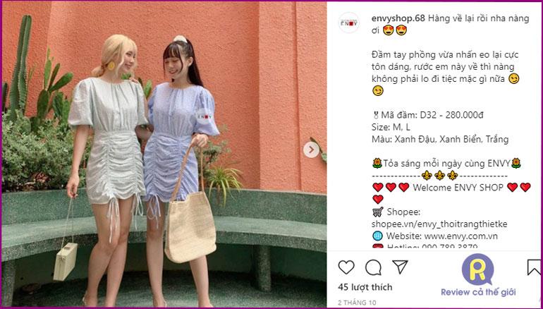 Shop bán váy đầm dự tiệc Envy