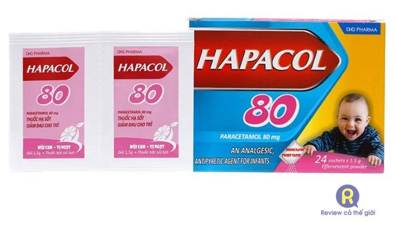 Thuốc hạ sốt cho trẻ sơ sinh Hapacol 80
