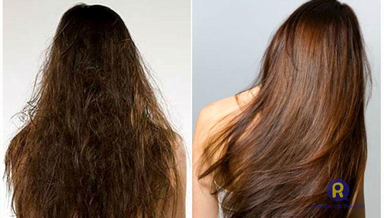 Phục hồi tóc bằng tinh chất Keratin