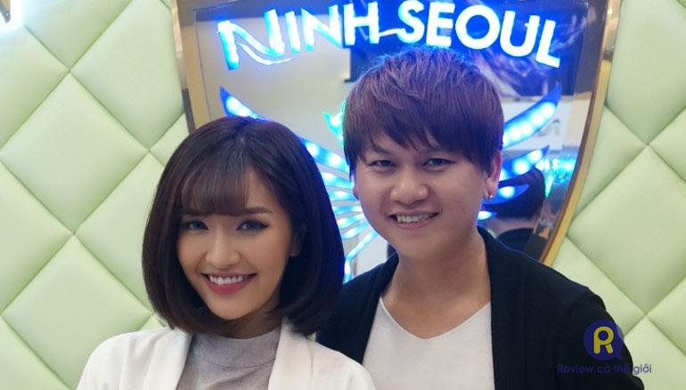 Nhà tạo mẫu tóc Ninh Seoul làm tóc ngắn uốn cúp cho ca sỹ Bích Phương
