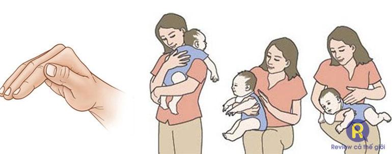 Hướng dẫn vỗ long đờm cho trẻ sơ sinh