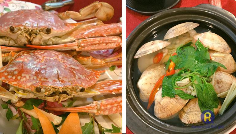 Ghẹ và ngao nhà hàng Phi Yến (Côn Đảo)