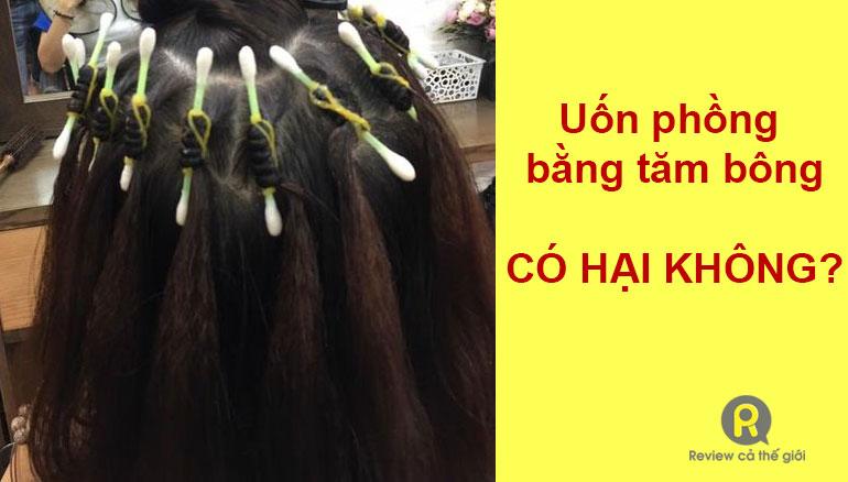 Uốn phồng chân tóc bằng tăm bông có hại không
