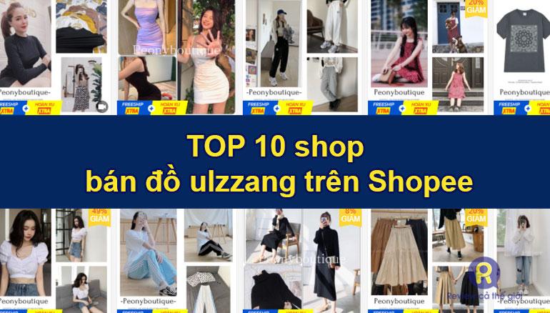 Shop bán đồ ulzzang trên shopee