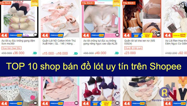 Shop bán đồ lót uy tín trên shopee