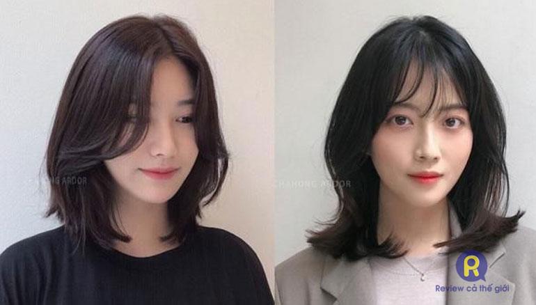 Kiểu tóc layer phù hợp với những bạn gái có mặt dài, hơi xương