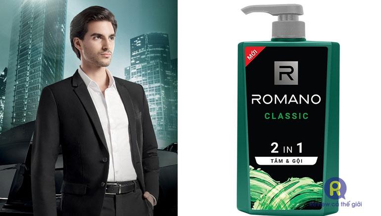 Romano: Dầu gội sữa tắm 2 trong 1 cho nam