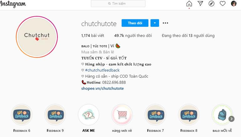 Shop Chutchutote bán balo đẹp