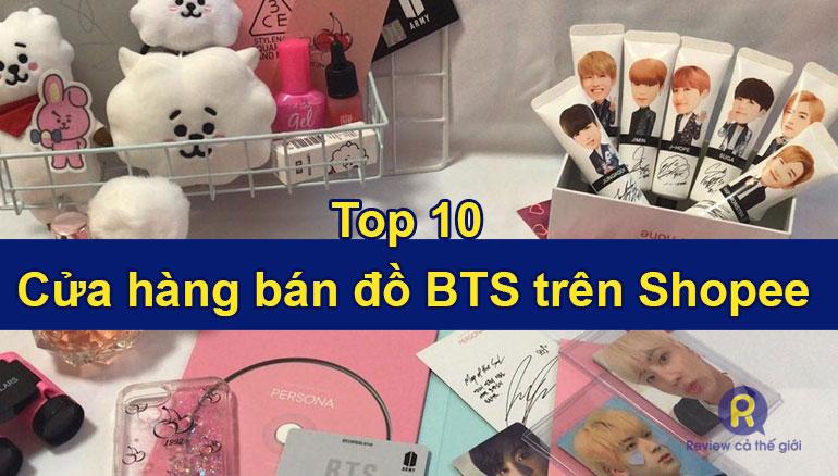 Shop trên Shopee bán đồ BTS