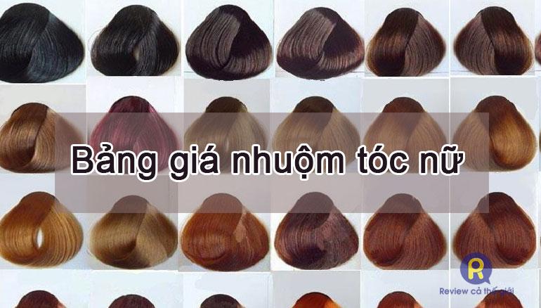 Bảng giá nhuộm tóc nữ