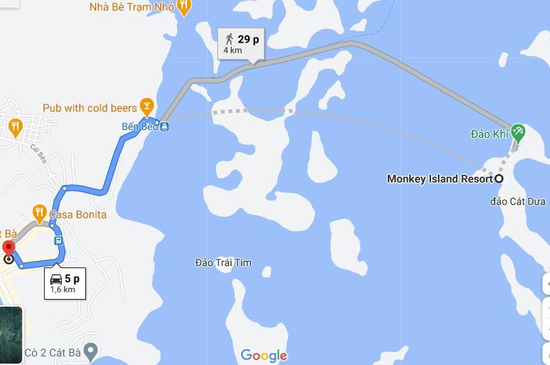 Đường đến Đảo Khỉ Cát Bà