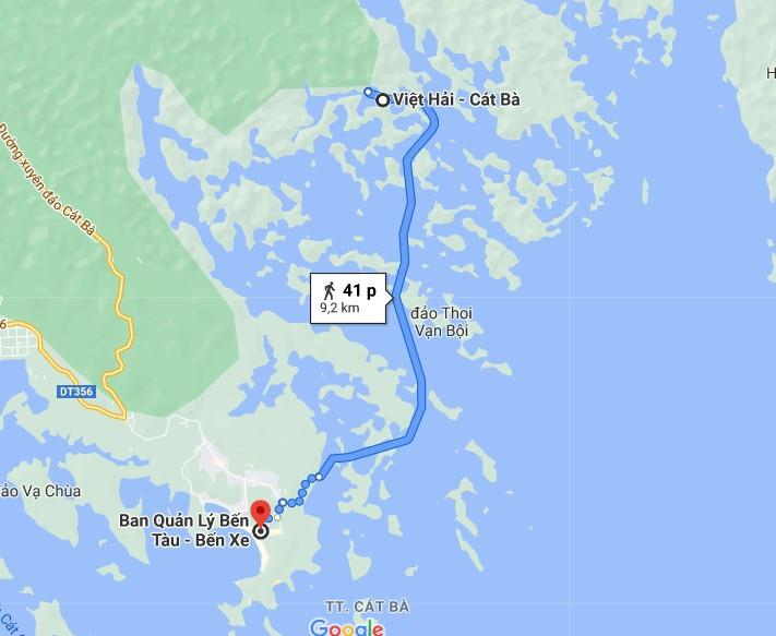 Đường đến Làng Chài Việt Hải