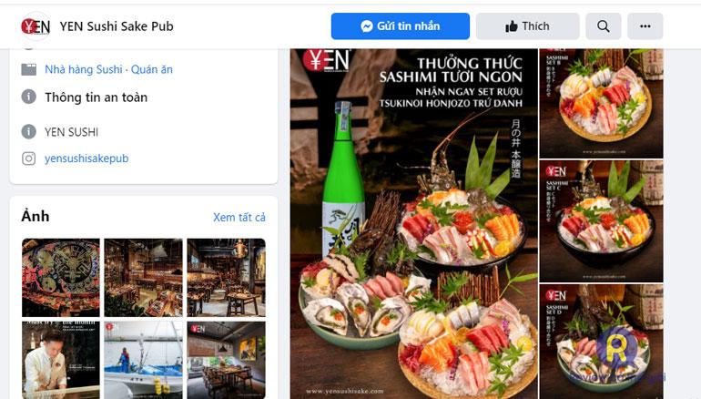 Quán nhậu phong cách Nhật: Yen Sushi & Sake Pub