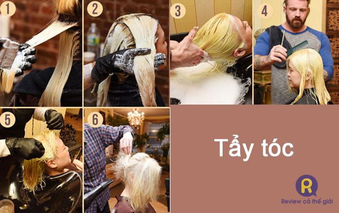 Quy trình tẩy tóc cơ bản