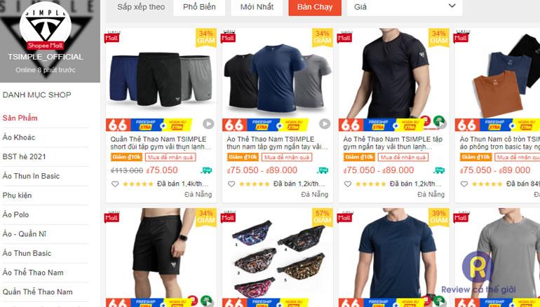 Tsimple - shop bán quần áo nam